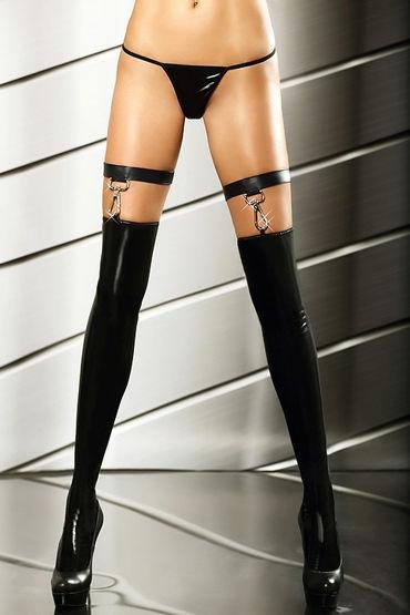 Lolitta Extraordinary Stockings, черные Изысканные лаковые чулочки anne d ales flora stockings черные