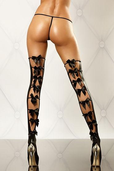 Lolitta Bows Stockings, черные Чулочки с бантиками rhinestone bows hair barrette
