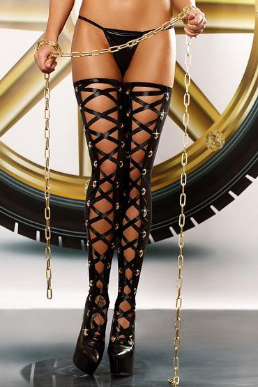 Lolitta Bizarre Stockings, черные Чулки со шнуровкой ю rene rofe чулки сетка
