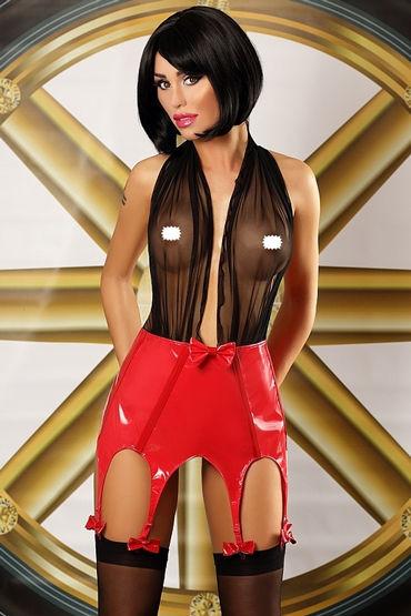 Lolitta Predatory Woman Set, черно-красный Бэбидолл с лаковым низом черное боди и митенки elza xxl 3xl