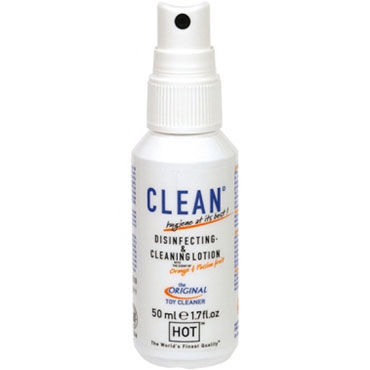 Hot Clean Disinfecting & Cleaning Lotion, 50 мл Дизенфицирующий и очищающий спрей hot clean disinfecting