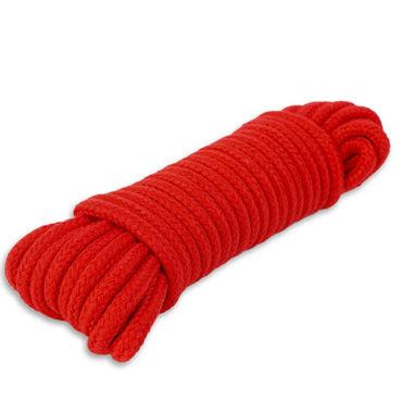 Пикантные штучки Веревка для связывания 10 м, красная С прочным плетением веревка 9м голубой
