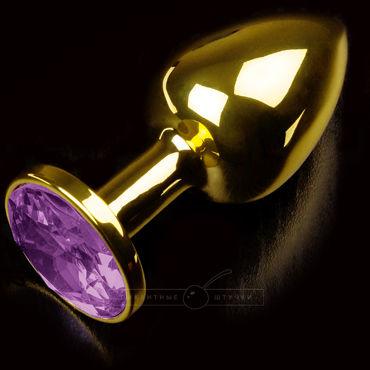Пикантные штучки Маленькая пробка, золотая С фиолетовым кристаллом пикантные штучки липкая лента красная не липнет к волосам