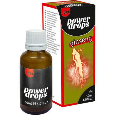 Hot Power Drops Ginseng, 30 мл Возбуждающие капли для мужчин okamoto тонкий мужской презерватив без чувства 1шт импотрный