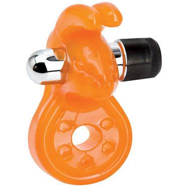 Topco Sex Please! Baxter Vibrating Cock Ring, оранжевое Эрекционное кольцо с вибрацией topco sex sweet lube яблоко и ягоды 197 мл вкусовой лубрикант