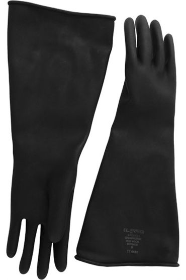 Mister B Thick Industrial Rubber Gloves, черные Резиновые перчатки elbow long industry anti acid alkali chemical resistant rubber work gloves safety glove