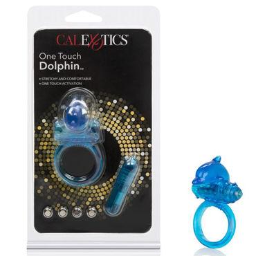 California Exotic One Touch Dolphin, синее Эрекционное кольцо с дельфинчиком seven creations dolphin вибрирующий дельфинчик для стимуляции клитора