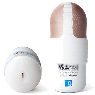 Topco Vulcan Love Skin Masturbator Wet Vagina Vibe, белый Влажная вагина с вибрацией you2toys simply anal balloon черная анальная пробка с расширением