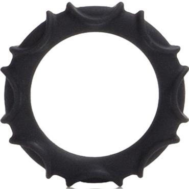 California Exotic Atlas Silicone Ring, черное Эрекционное кольцо luminous elephant ring animal series exotic jewelry