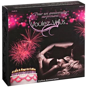 Voulez-Vous... Gift Box Birthday Набор для массажа или прелюдии ресницы перья розовый вечер
