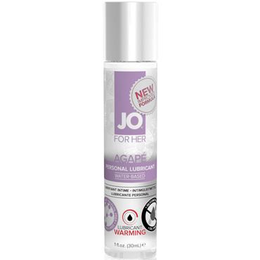 System JO Agape Women Warming, 30 мл Женский возбуждающий лубрикант для очень чувствительной кожи flutschi extra 80 мл лубрикант с возбуждающим эффектом