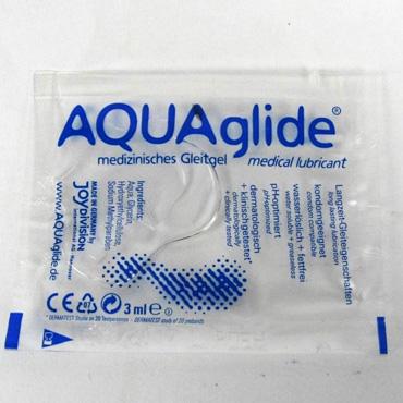 Aquaglide, 3 мл Нейтральный лубрикант на водной основе luxe седьмое небо презервативы с усиками