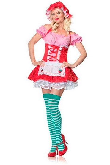 Leg Avenue Крестьянская девушка Озорное платье с фартуком leg avenue fishnet mini dress with bodice зеленое миниплатье сетка