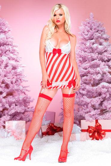 Leg Avenue Новогодний наряд Платье и стринги leg avenue комплект пеньюар в полосочку и стринги
