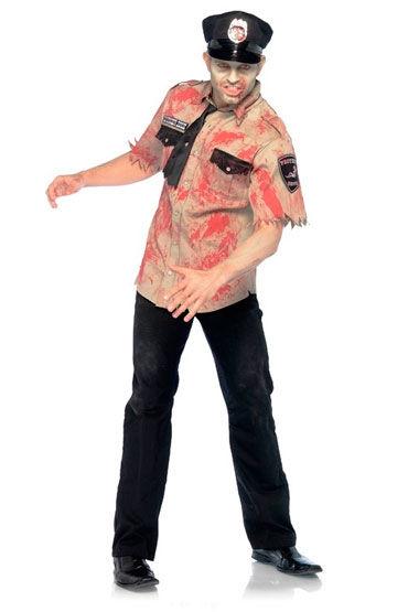 Leg Avenue Зомби шериф С галстуком и кепкой хэллоуин волк голову маска латексная головных уборов костюм косплей смешные украшения