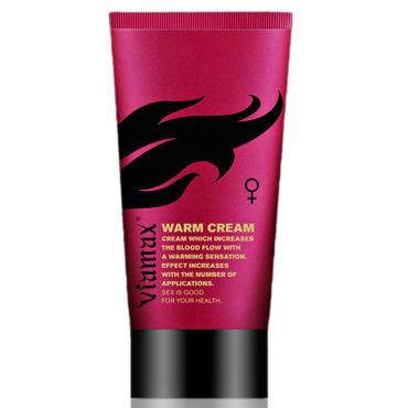 Viamax Warm Cream, 50 мл Возбуждающий крем для женщин мгновенного действия sitabella ошейник красный с декоративными шипами