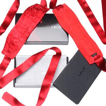 Lelo Etherea, красный Роскошные шелковые наручники sitabella extender extension condom с усиками 9 см