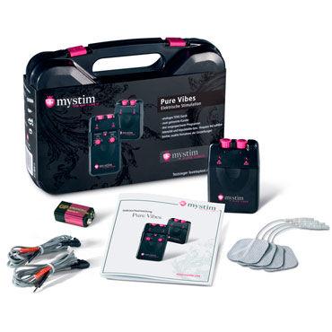 Mystim Pure Vibes Аналоговый электростимулятор mystim electrode gel adhesive 50мл электропроводящий клей для электродов