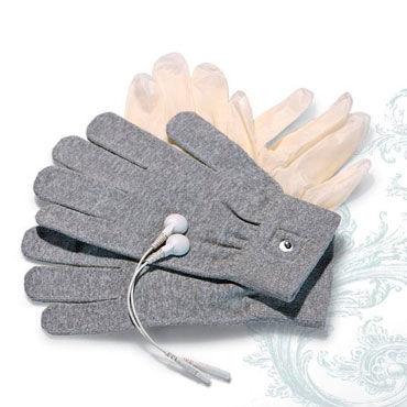 Mystim Magic Gloves Перчатки для чувственного электромассажа фаллоимитатор на присоске colours pleasures 5 телесный