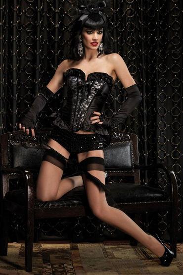 Leg Avenue Грация Корсет из черного атласа с кружевами ресницы brilliant crystals deluxe