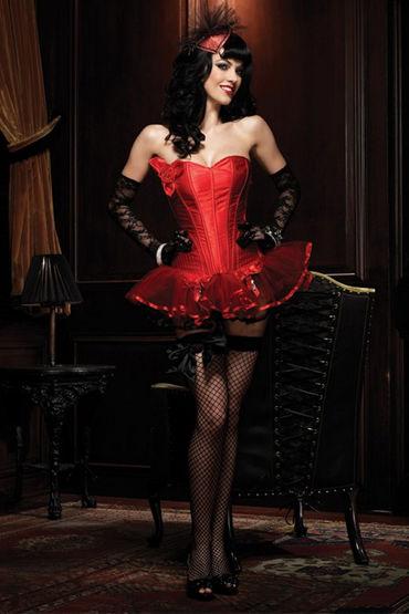 Leg Avenue Пейдж, красный Сексапильный корсет без бретелек leg avenue купидон юбка с подвязками для чулок и бюст