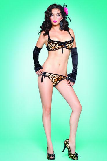 Leg Avenue комплект Леопардовый, с кисточками leg avenue комплект пеньюар в полосочку и стринги