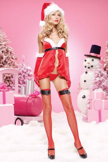 Leg Avenue комплект Новогодний озорной наряд leg avenue комплект красный яркое и красивое новогоднее белье