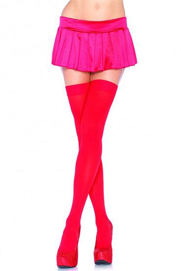 Leg Avenue чулки, красные Непрозрачные женские эротические чулки fenbao 8001