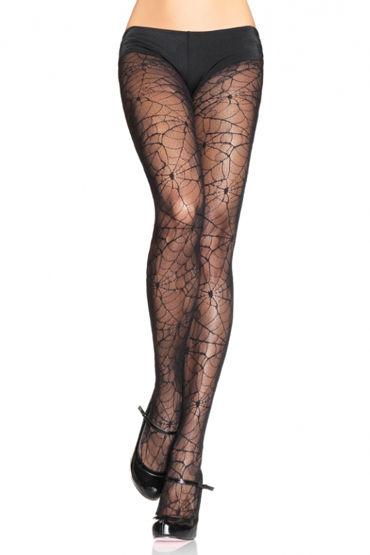 Leg Avenue колготки, черные С рисунком ''паутинка'' leg avenue колготки красные с оригинальным верхом