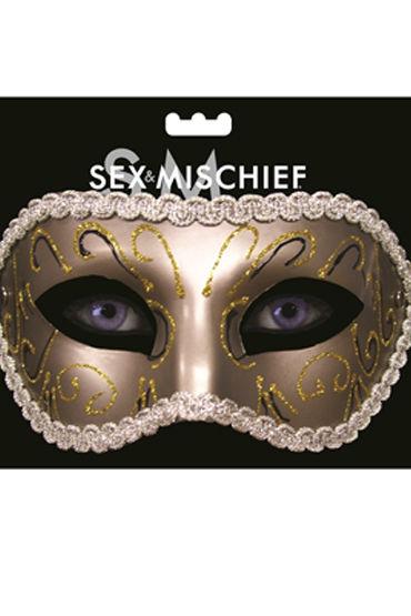 Sex & Mischief Masquerade Mask Роскошная маска sex mischief satin blindfold серый