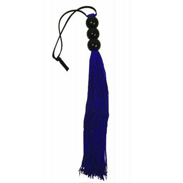 Sex & Mischief Small Whip, фиолетовый C латексными хвостами, 25 см sex mischief satin blindfold серый