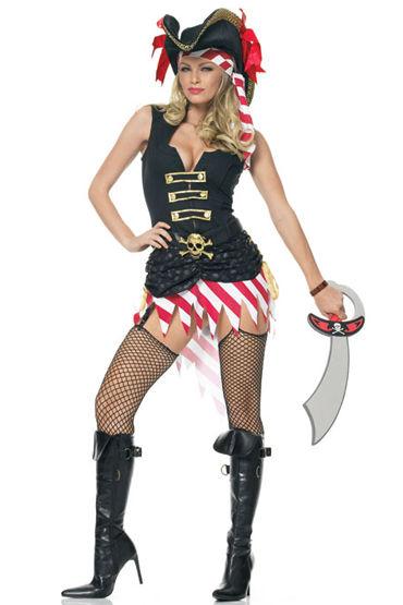 Leg Avenue Пират Платье с поясом и повязка на голову leg avenue новогодний наряд платье и стринги
