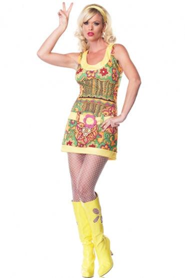 Leg Avenue Красотка Хиппи Яркое игривое мини-платье leg avenue помощница капитана платье со шнуровкой и шапочка