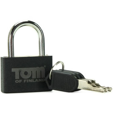 Tom of Finland Metal Lock, черный Металлический замок gift set of basix long boy flesh and a bottle of id glide 4 4 oz flip cap bottle