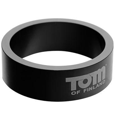 Tom of Finland 50mm Aluminum Cock Rings, черное Эрекционное кольцо из металла you2toys black velvet cock ring ball черное кольцо с анальным шариком