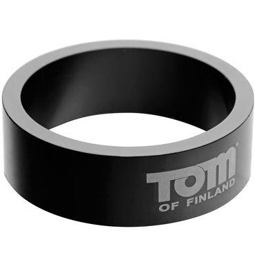 Tom of Finland 60mm Aluminum Cock Rings, черное Эрекционное кольцо из металла you2toys black velvet cock ring ball черное кольцо с анальным шариком