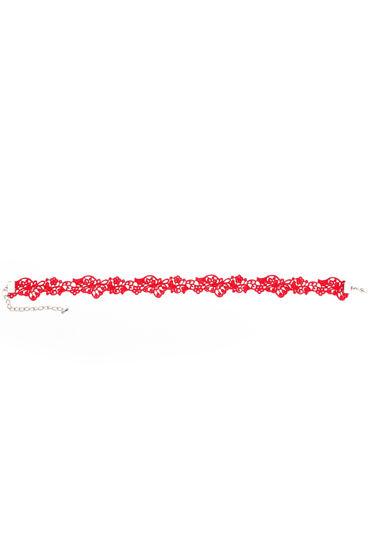 Dolce Piccante Mistero, красное Ожерелье-чокер из кружева