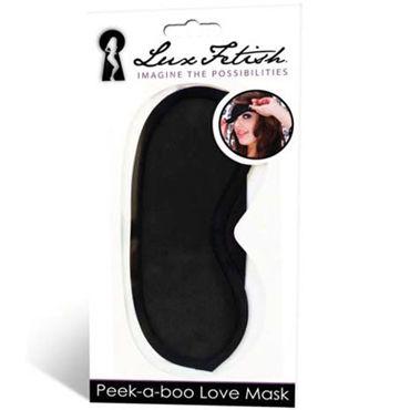Lux Fetish Peek-a-Boo, черная Маска на глаза боди наручники и маска на глаза dagoma s