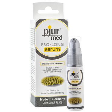 Pjur Med Pro-long Serum, 20 мл Концентрированная продлевающая сыворотка pjur med premium glide 4 мл гипоаллергенный силиконовый лубрикант