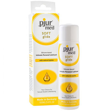 Pjur Med Soft Glide, 100 мл Концентрированный силиконовый лубрикант для сухой и чувствительной слизистой pjur med sensitive glide 100 мл лубрикант на водной основе для чувствительной кожи