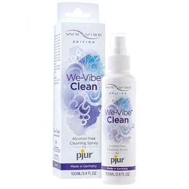 Pjur We-Vibe Clean, 100 мл Спрей для очистки игрушек л комплекты анальных игрушек материал термопластичный эластомер