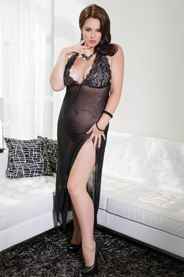 Coquette ночное платье, черное С обнаженной спинкой coquette платье с поддерживающим лифом