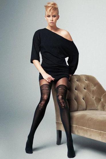 Veneziana Lindsay, черные Колготки с цветочным рисунком колготки