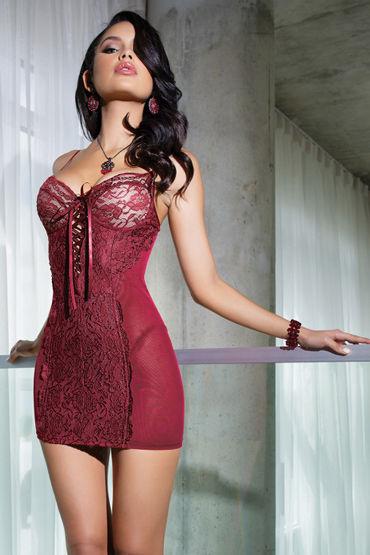Coquette Платье, красное С изумительным кружевом coquette платье с поддерживающим лифом