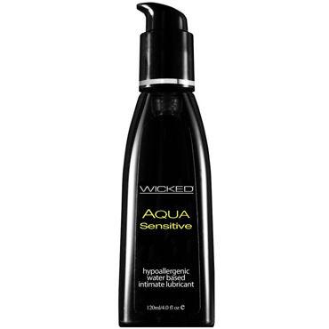Wicked Aqua Sensitive, 120 мл Мягкий лубрикант на водной основе hot bio sensitive 150 мл интимный гель для чувствительной кожи