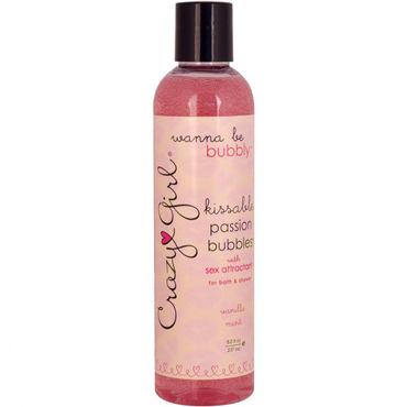 Classic Erotica Crazy Girl Passion Bubbles, 237 мл Съедобный гель для ванны и душа с феромонами и ароматом ванильной мяты