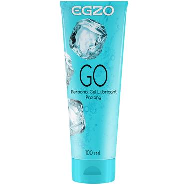 Egzo Go, 100 мл Лубрикант пролонгирующий на водной основе лубрикант на водной основе swiss navy all natural гипоаллергенный 118 мл