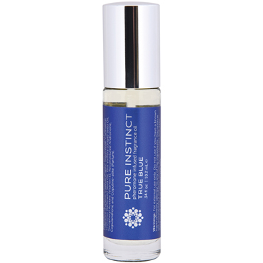 Pure Instinct Pheromone Fragrance Oil Roll-On True Blue, 10 мл Парфюмерное масло с феромонами для двоих е doc johnson ultra realistic cock 15 5 см