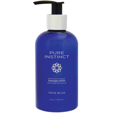 Pure Instinct Pheromone Massage & Body Lotion True Blue, 236 мл Массажный лосьон для тела с феромонами natural instinct body balm 250 мл бальзам для тела с феромонами вишня и смородина