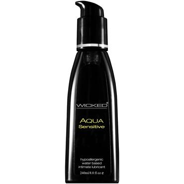 Wicked Aqua Sensitive, 240 мл Мягкий лубрикант на водной основе wicked aqua candy apple 60 мл с ароматом сахарного яблока